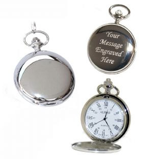 Quartz Pocket Watch Roman Numerals